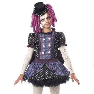 NIP, Halloween Girl Costume Broken Doll, L plus